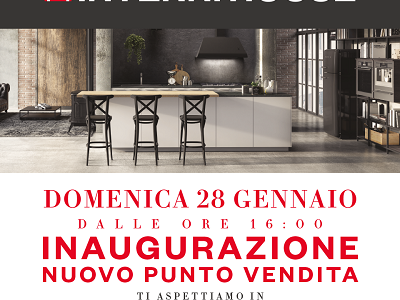 We look forward to seeing you tomorrow, Sunday, January 28th at the grand opening of the new INTERNI HOUSE store in Avellino, from 4.00 pm to celebrate with us the new opening!