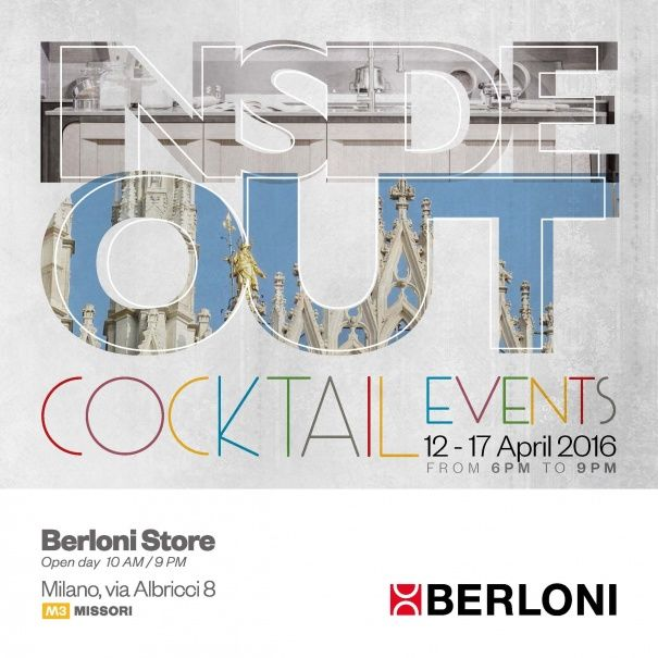 For Design Week 2016, we are delighted to invite you to the Berloni Store in Milan on 12-17 April from 6 pm to 9 pm, for a sneak preview of the innovations for 2016.